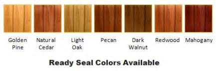 ready seal colors wood fence