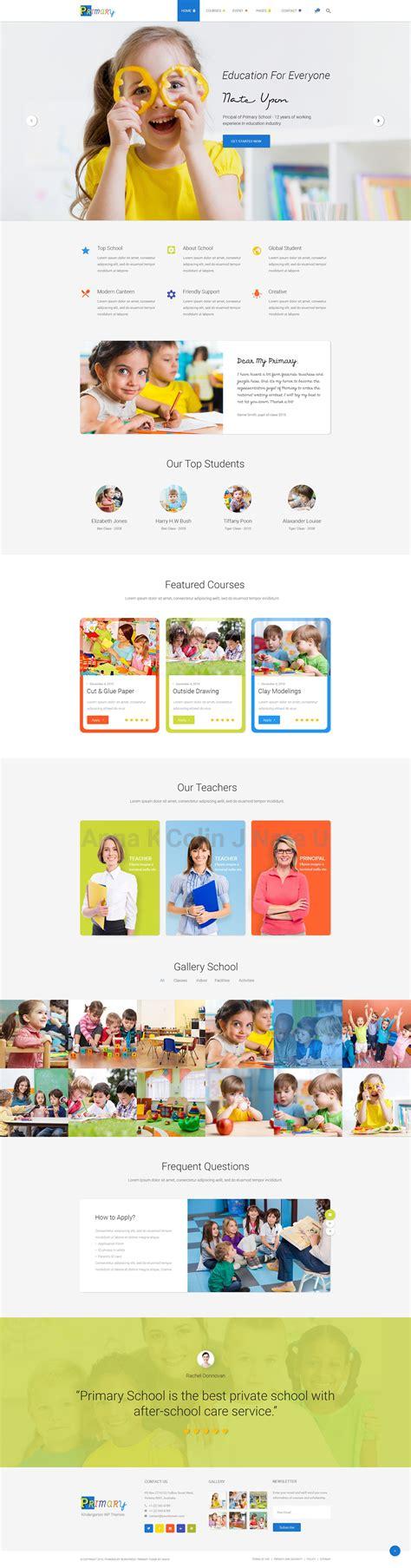 drupal themes kindergarten primary kindergarten school wordpress theme wordpress