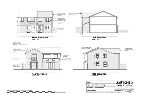 Example House plans   3 Bedroom end of terrace built to