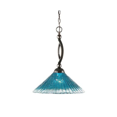 Teal Pendant Light Filament Design 1 Light Black Copper Pendant With Teal Glass Cli Tl5013538 The Home Depot
