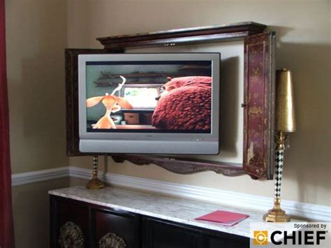 hidden flat screen tv cabinet to hide a flat screen use a cabinet for the home pinterest
