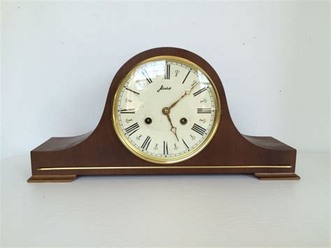 clock made of clocks vintage haid 8 day wind up mantle clock made in by
