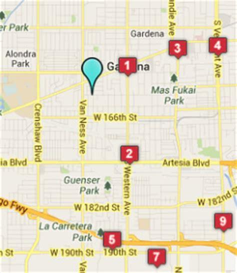 Gardena Ca On A Map Gardena Ca Hotels Motels See All Discounts
