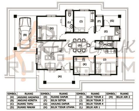 Layout Rumah 4 Bilik | pelan lantai banglo setingkat 4 bilik www pixshark com