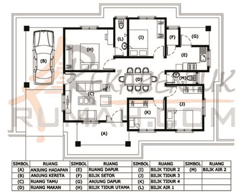 Rumah Kaki Empat Klx design rumah b1 29 4 bilik 2 bilik air 48 x33 1199 kaki persegi rekabentukrumah