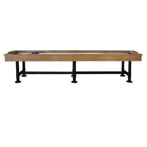12 ft shuffleboard table bedford 12 ft shuffleboard table desert chestnut
