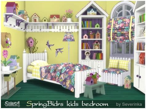 bedroom for 4 kids my sims 4 blog spring birds kid s bedroom set by severinka