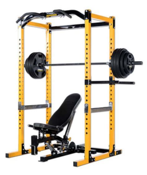 yellow weight bench home gyms benches powertec workbench power rack
