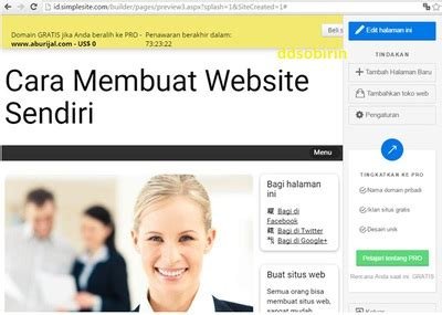 membuat website domain sendiri gratis cara membuat website gratis sendiri di simplesite blog review
