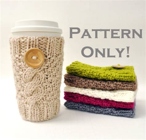 free knitting pattern coffee cup sleeve 17 best ideas about mug cozy on crochet mug