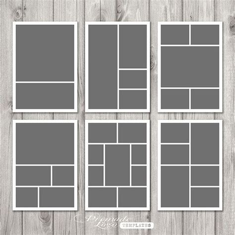 5 photo collage template photo template storyboard template photo collage