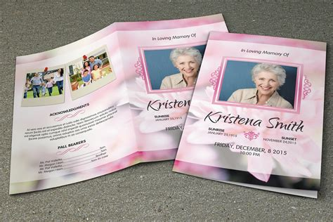 memorial brochure templates free funeral program template v261 brochure templates on