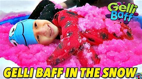 Zimplikids Gelli Baff squishy gelli baff gross in the snow me and