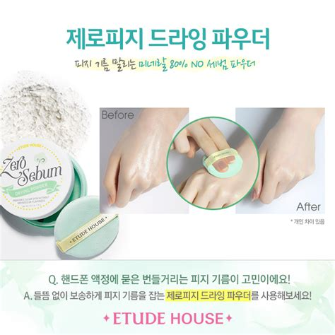 Etude House No Sebum korean etude house zero sebum drying powder