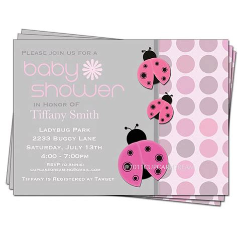 Ladybug Baby Shower Invitations by Ladybug Baby Shower Invitation Baby Shower