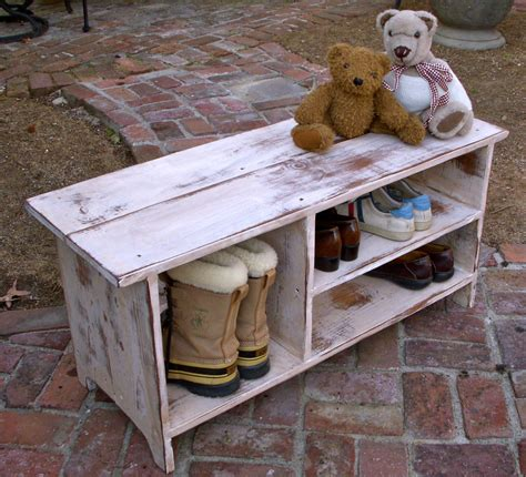 build a shoe bench wood shelf storage shoe bench entryway hall by honeystreasures