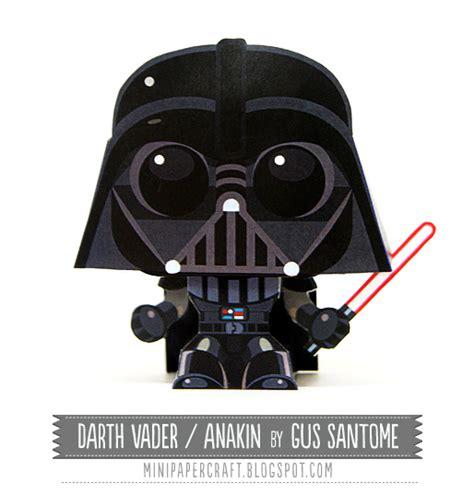 Papercraft Darth Vader - mini wars darth vader papercraft papercraft