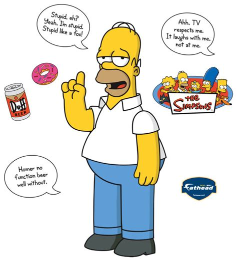 simpsons wall stickers homer says fathead simpsons wall graphic