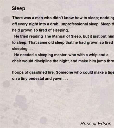 Home Chair by Sleep Poem By Russell Edson Poem Hunter