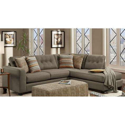 House Sectional by Shop Chelsea Home Fandango Mocha Sectional At