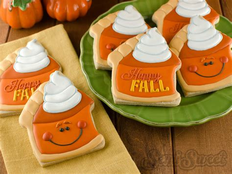 How To Make Decorated Cookies by How To Make Pumpkin Pie Slice Cookies Semi Sweet Designs