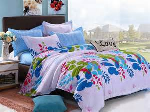 Queen Size Bed Designs For Girls Various Colorful Beautiful Flowers Teen Girls Bedding Sets