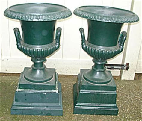 Cast Iron Urn Planters For Sale by Pair Of Cast Iron Mott Garden Urns For Sale Antiques