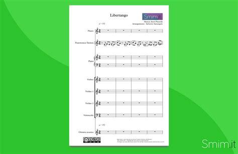 libertango testo libertango di astor piazzolla partitura per orchestra