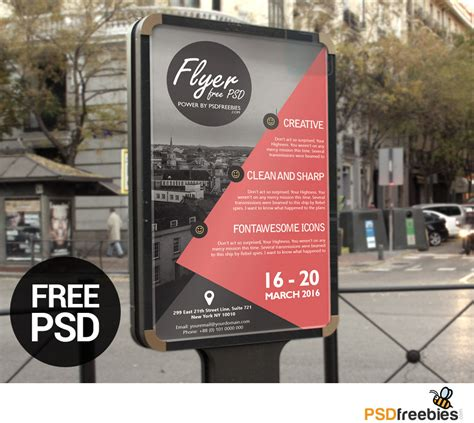 poster template free psd business advertisement poster or flyer template psd