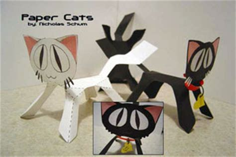 Papercraft Cats - papercraft cat dotty paperkraft net free papercraft