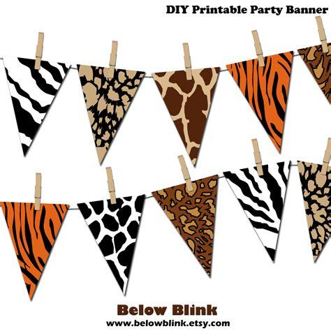 free printable jungle birthday banner safari banner jungle printable party banner happy birthday