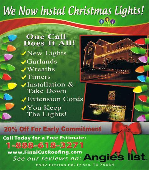 christmas light installation software christmas lights installation in frisco texas final cut