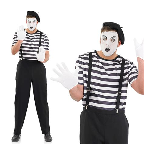 video format or mime not supported mens french male mime artist fancy dress costume halloween