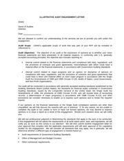 sle engagement letter illustrative audit engagement