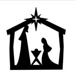 nativity silhouette template silhouette nativity new calendar template site