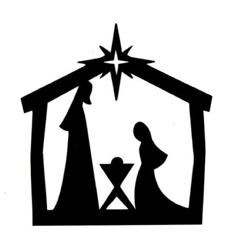 Nativity Silhouette Template silhouette nativity new calendar template site