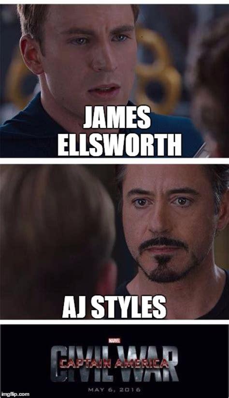 Aj Styles Memes - marvel civil war 1 meme imgflip