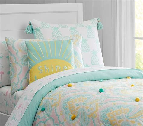 puffy comforter puffy ikat quilted bedding pottery barn kids