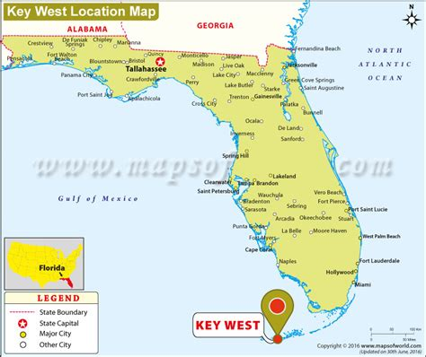 usa map key west where is key west located in florida usa