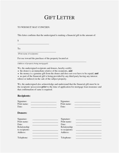 Sle Memo Gift Exchange car gift letter template 28 images vehicle gift letter