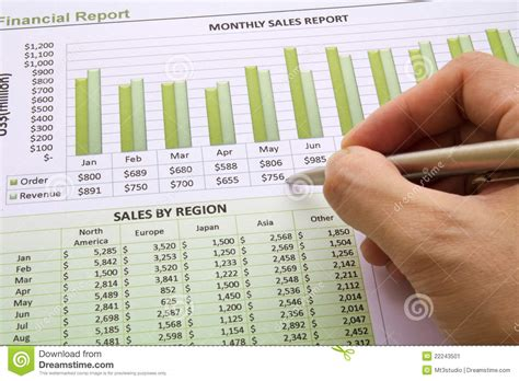 yearly report sle annual sales report stock image image 22243501