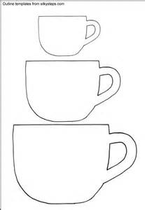 Cup Template by Teacup Outline Templates Templets For Cards