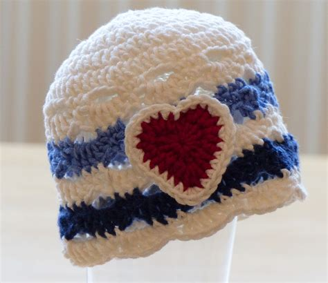 lace hat crochet pattern made from heart sole sock yarn nautical baby hat make my day creative