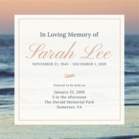 funeral invitation template customize 40 funeral invitation templates canva