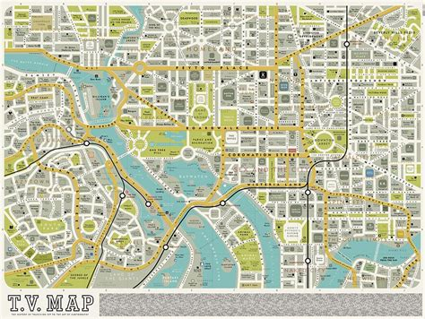 a map classic tv show maps in pictures television radio theguardian