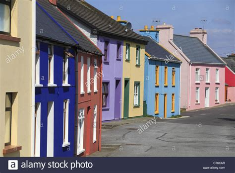 houses to buy in cork brightly coloured houses in the village of eyeries west cork rep of stock photo