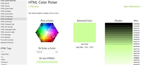 w3schools color picker w3schools color picker 8 useful color pickers to help