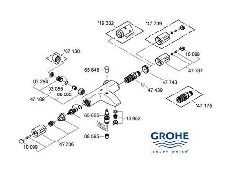 Grohe Showers Spare Parts by Grohe Grohtherm Auto 1000 Shower Spares And Parts Grohe