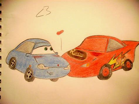 cars sally and lightning mcqueen kiss lightning sally kiss by nikchik 11 on deviantart