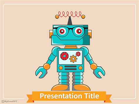 robot powerpoint template free futuristic powerpoint templates myfreeppt